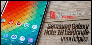 samsung Galaxy Note 10 İncelemesi 2019